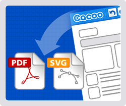 Export as PDF and SVG!